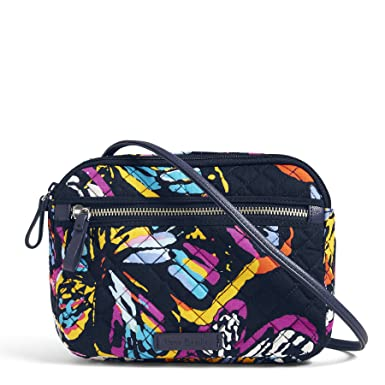 48f7a86e85d Vera Bradley Iconic RFID Little Crossbody, Signature Cotton, Butterfly  Flutter