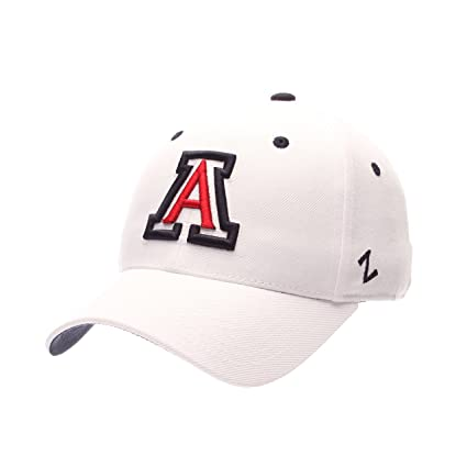 sports shoes 9e1d0 269dc Zephyr Men s Arizona Wildcats DH ZWOOL Fitted HAT-White ...