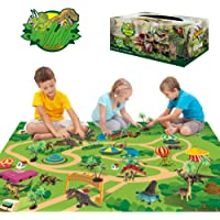 Deals on Sinceroduct Dinosaur Toys Activity Play Mat 47.2 x 31.5-in