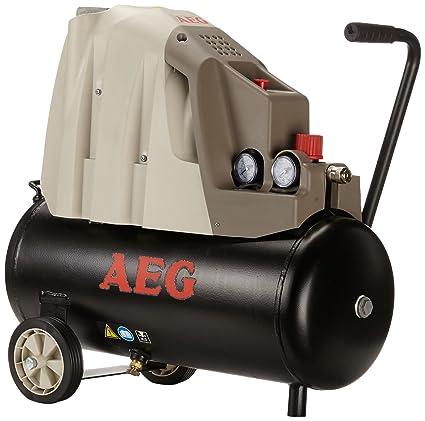 AEG-Compresor de Aire Sin Aceite 24 Lt Lubricación de Aceite