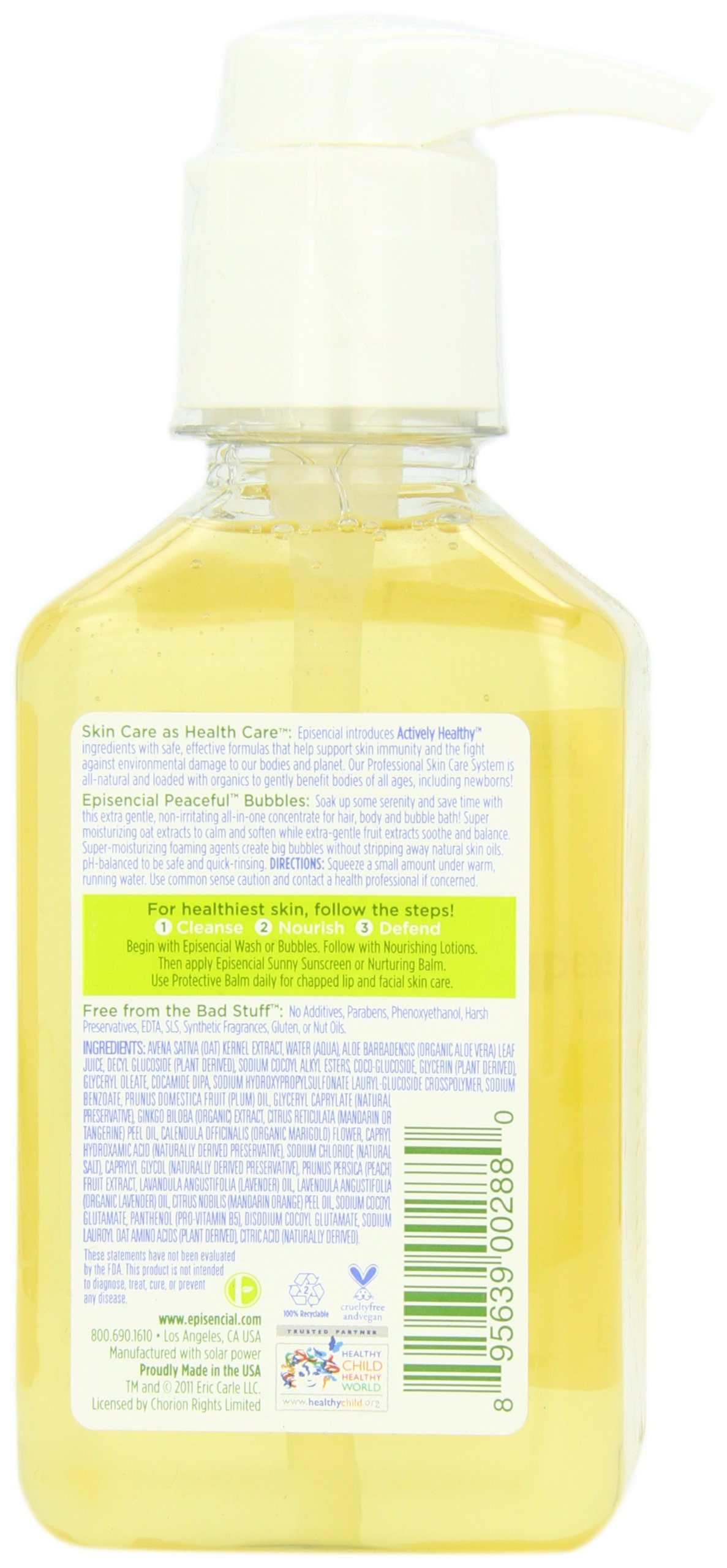 Babytime by Episencial Peaceful Bubbles - Organic Cleansing Bubble Bath and Shampoo, 22.6 Ounce