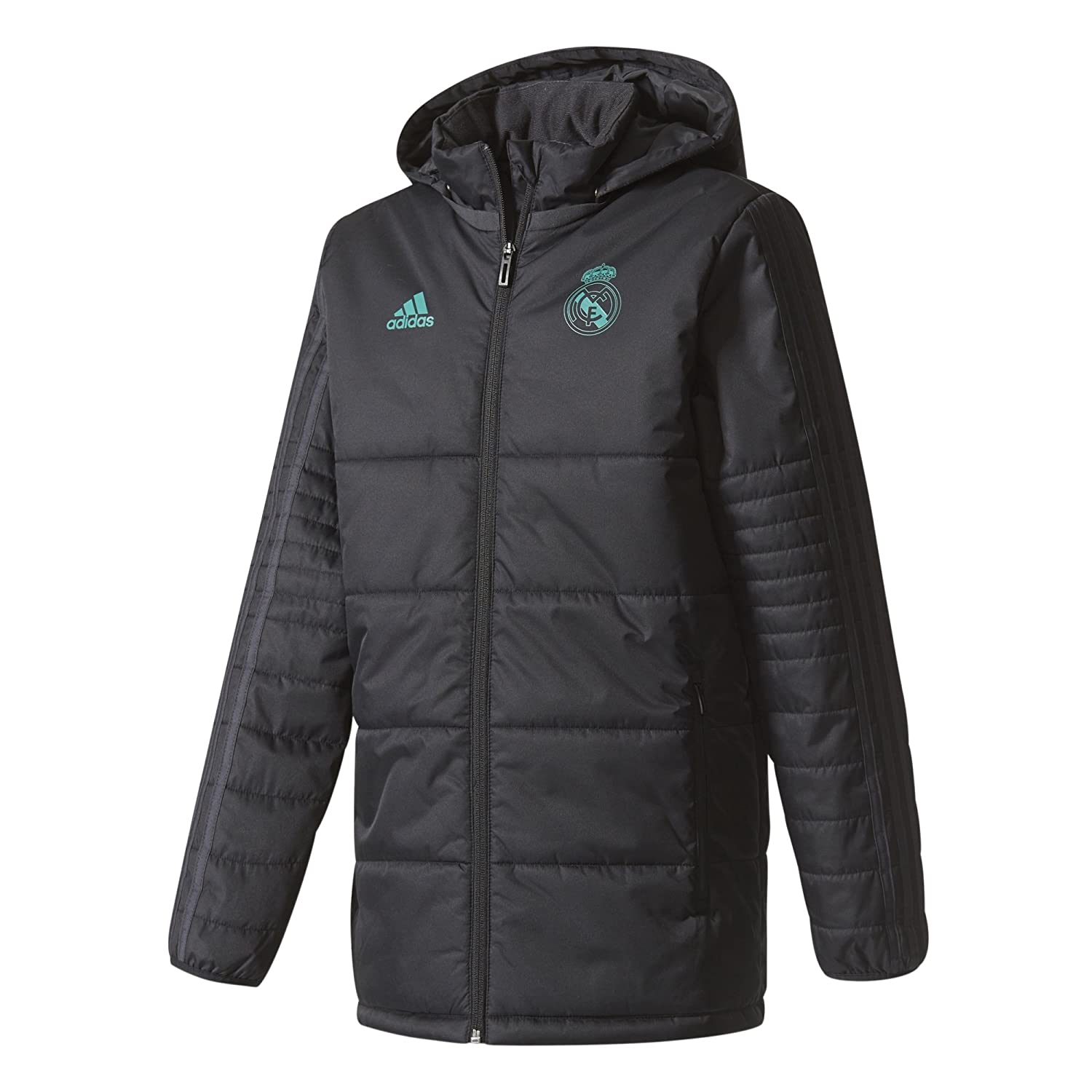 2adb5a3d43ed Top1  2017-2018 Real Madrid Adidas Padded Winter Jacket (Black) - Kids