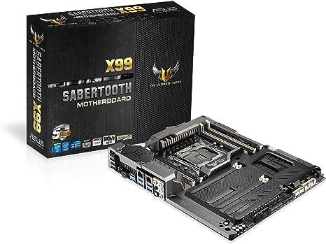 Asus TUF SABERTOOTH X99 LGA2011-V3 DDR4 M.2 SATA 6Gb/s USB 3.1 Type A Intel X99 ATX Motherboard