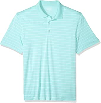 Amazon Essentials Men's Regular-Fit Quick-Dry Stripe Golf Polo Shirt