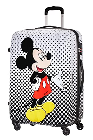 American Tourister Disney Legends - Spinner Large Alfatwist Equipaje de Mano, 75 cm, 88 Liters, (Mickey Mouse Polka Dot): Amazon.es: Equipaje