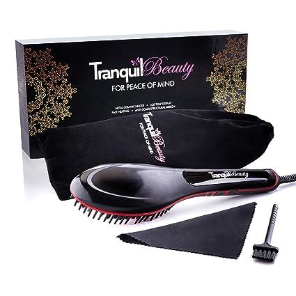 Cepillo alisador de Tranquil Beauty, para todo tipo de pelo, de ...