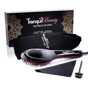 e99b30bafbd Hair Brush Straightener • Best Straightening Brush By Tranquil Beauty UK •  Heated Hair Brush That ...