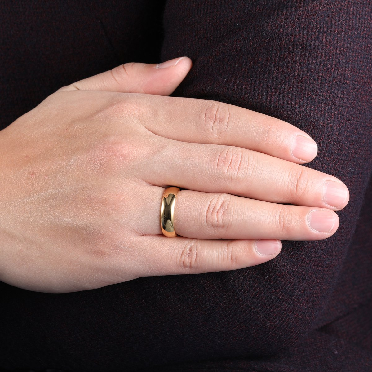 iTungsten 6mm 8mm Gold Tungsten Carbide Rings for Men Women Wedding ...