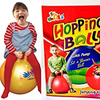 Clastik Kid's Bouncing Inflatable Sit and Jump Ball (Assorted Colour, Small, 60 cm/24 Inch) with Pump