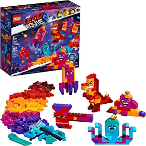 LEGO THE LEGO MOVIE 2 Queen Watevra's Build Whatever Box! 70825 Pretend Play Toy and Creative Building Kit for Girls and Boys, 2019 (455 Pieces)