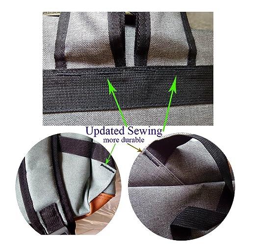 Amazon.com: UPSUN(WenJie) Vintage Chic Canvas Laptop School Travel Backpack Work Knapsack(B) - Light-green: Computers & Accessories