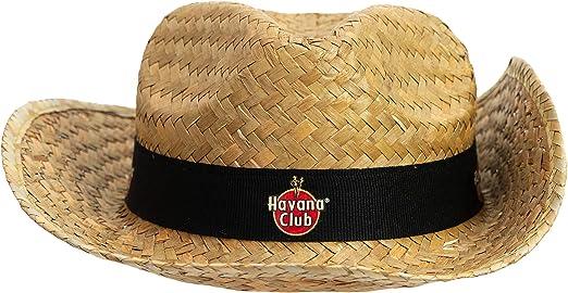 Havana Club Rum - 2 gorros de paja originales con logo para fiesta ...