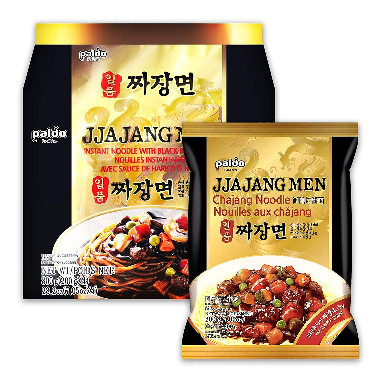 PALDO FUN & YUM Jjajangmen Chajang Noodle No MSG 16-pack, 7.05 ounce (pack of 16)