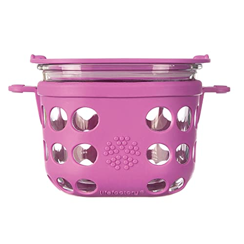 Szklane naczynia do przechowywania i pieczenia z ochronną silikonową tuleją 2-komorową BPA z powłoką ochronną