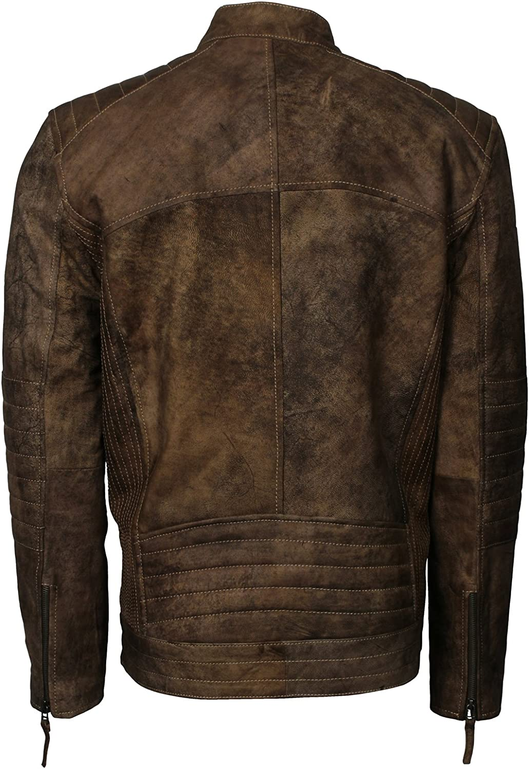 Distressed Brown Vintage Style Classic Designer Leather Jacket