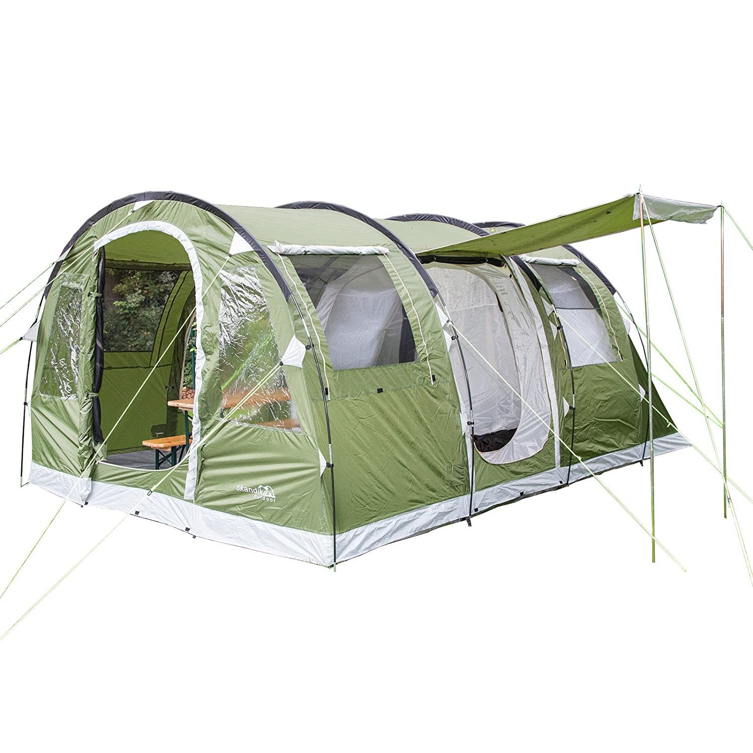 Skandika Gotland Group or Family Tunnel Tent with Sewn-In Groundsheet  sc 1 st  Amazon UK & OLPro The Martley 6/8 Berth Tent - Grey: Amazon.co.uk: Sports ...