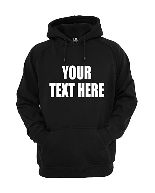 Lo Key Clothing - Personalizable Sudadera con Capucha Personalizado Sudadera con Capucha Lema Crear su Propia Camiseta de Jersey Impresión Marca: Amazon.es: ...