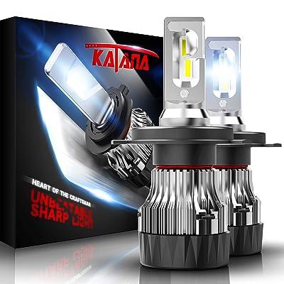 KATANA H4 LED Headlight Bulbs w/Mini Design,10000LM 6500K Cool White CREE Chips 9003 All-in-One Conversion Kit: Automotive