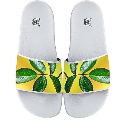 Green Leaves Non-slip Flat Flip Flops Beach Pool Slide Sandal Home Floor Slippers For Men And Women