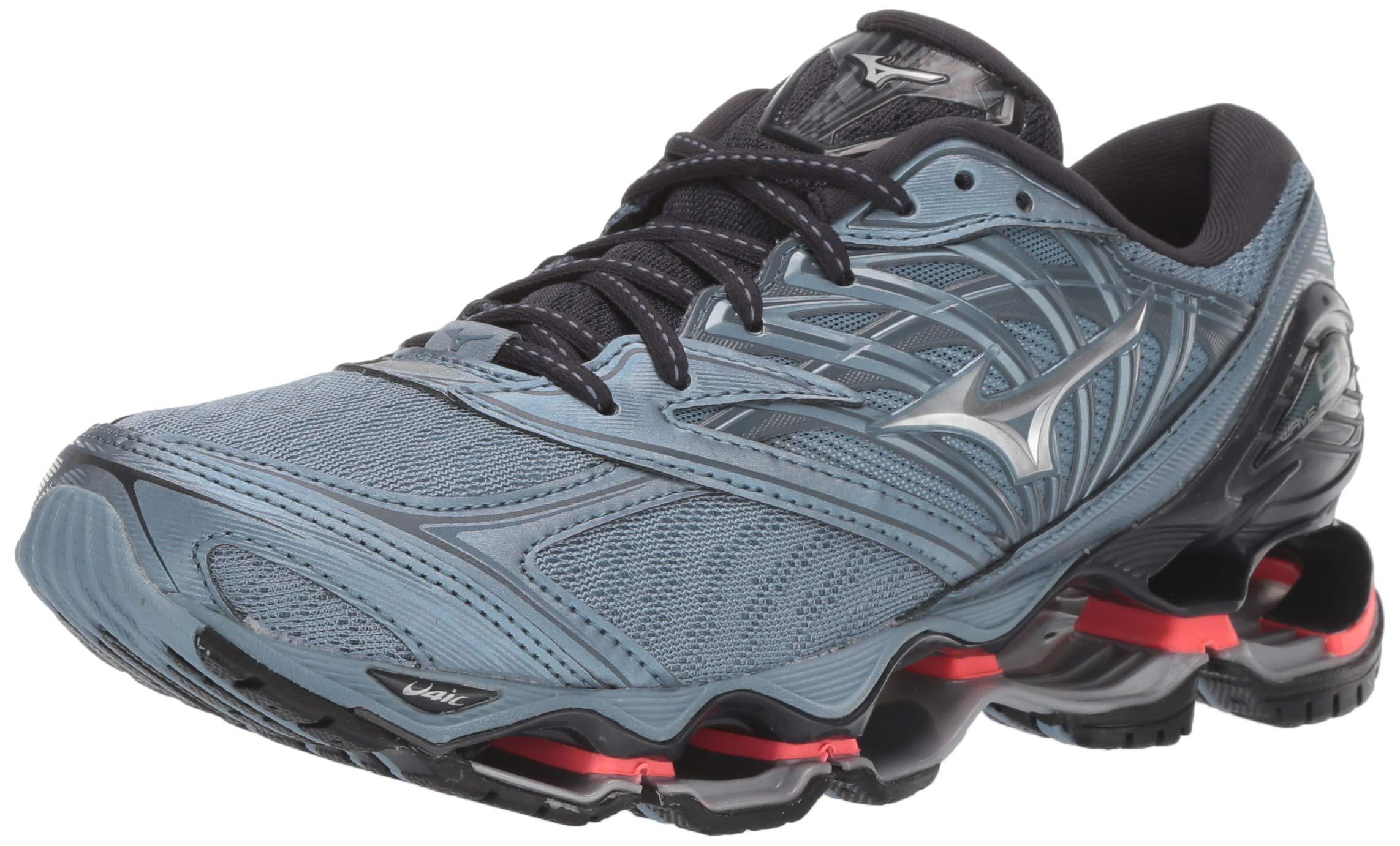 Mizuno Women's Wave Prophecy 8 Running Shoe, Citadel-Silver, 6 B US