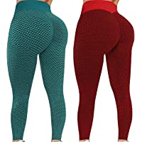 YOGALULU 2PCS TIK Tok Leggings, Leggings de Gimnasio de Cintura Alta Pantalones de Yoga para Mujer Leggings…