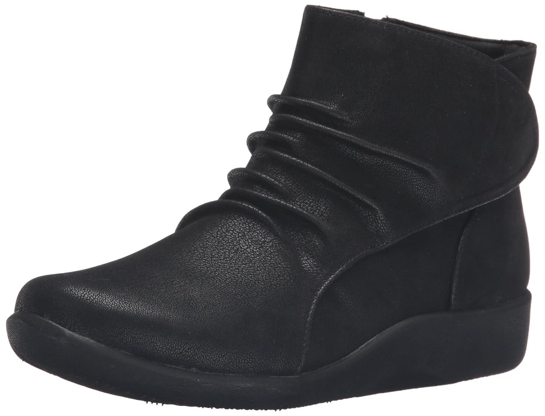 CLARKS Women's Sillian Chell Boot B0198WQNZG 5.5 B(M) US|Black Synthetic Nubuck
