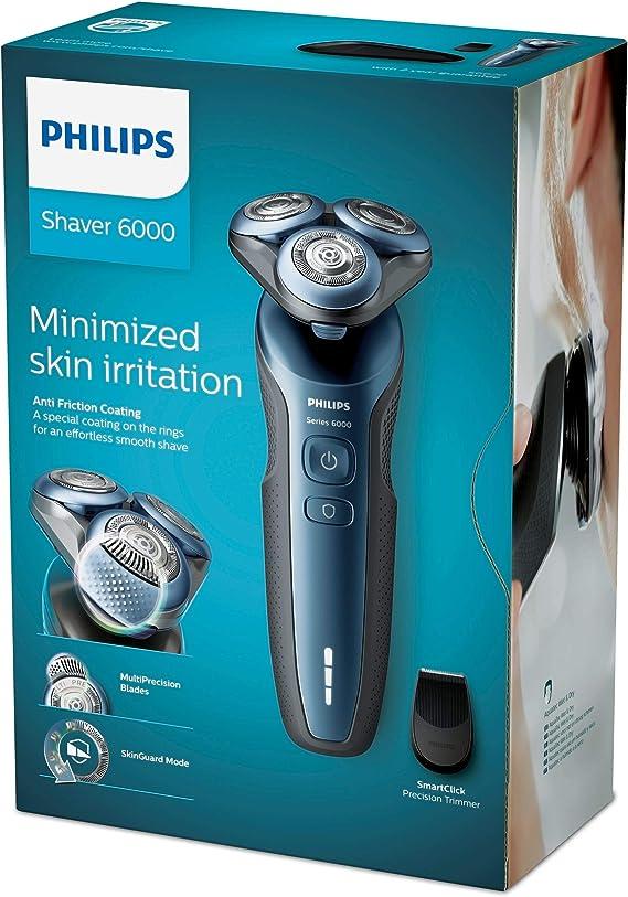 Philips Afeitadora eléctrica en seco y húmedo S6620/11 Serie 6000 ...