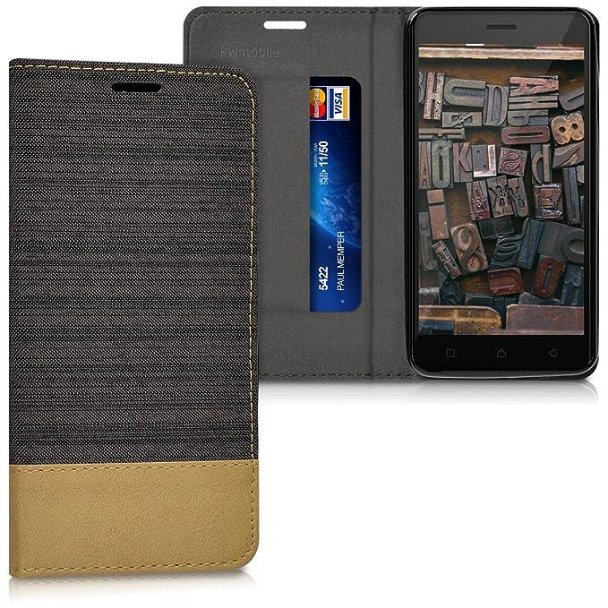 1 opinioni per kwmobile Lenovo K6 Cover Flip- Custodia a Libro in Pelle PU e Tessuto- Stand