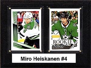 """C & I Collectibles NHL 6""""x8"""" Miro Heiskanen Dallas Stars Two Card Plaque"""