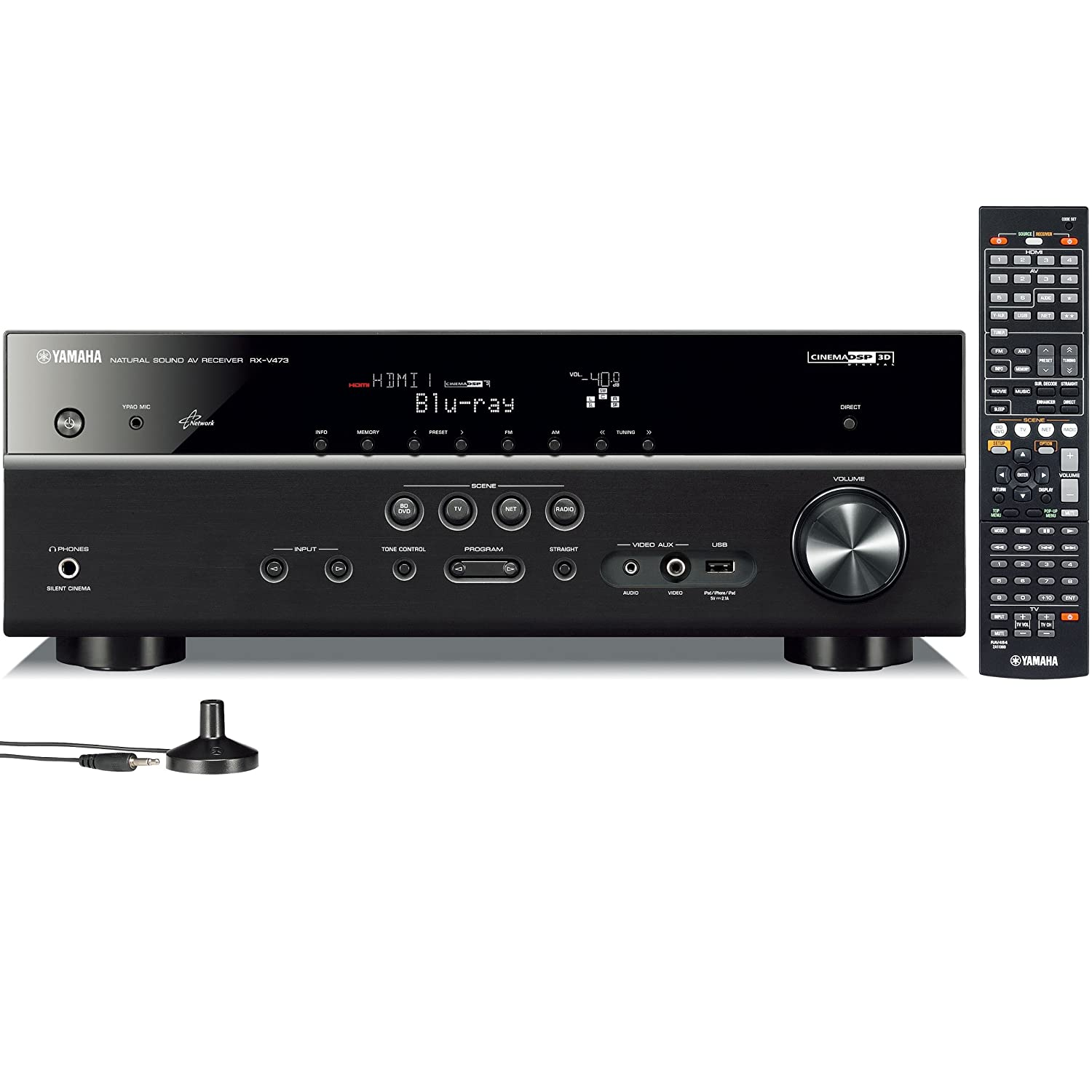 Amazon.com: Yamaha RX-V473 5.1- Channel Network AV Receiver (Discontinued  by Manufacturer): Home Audio & Theater