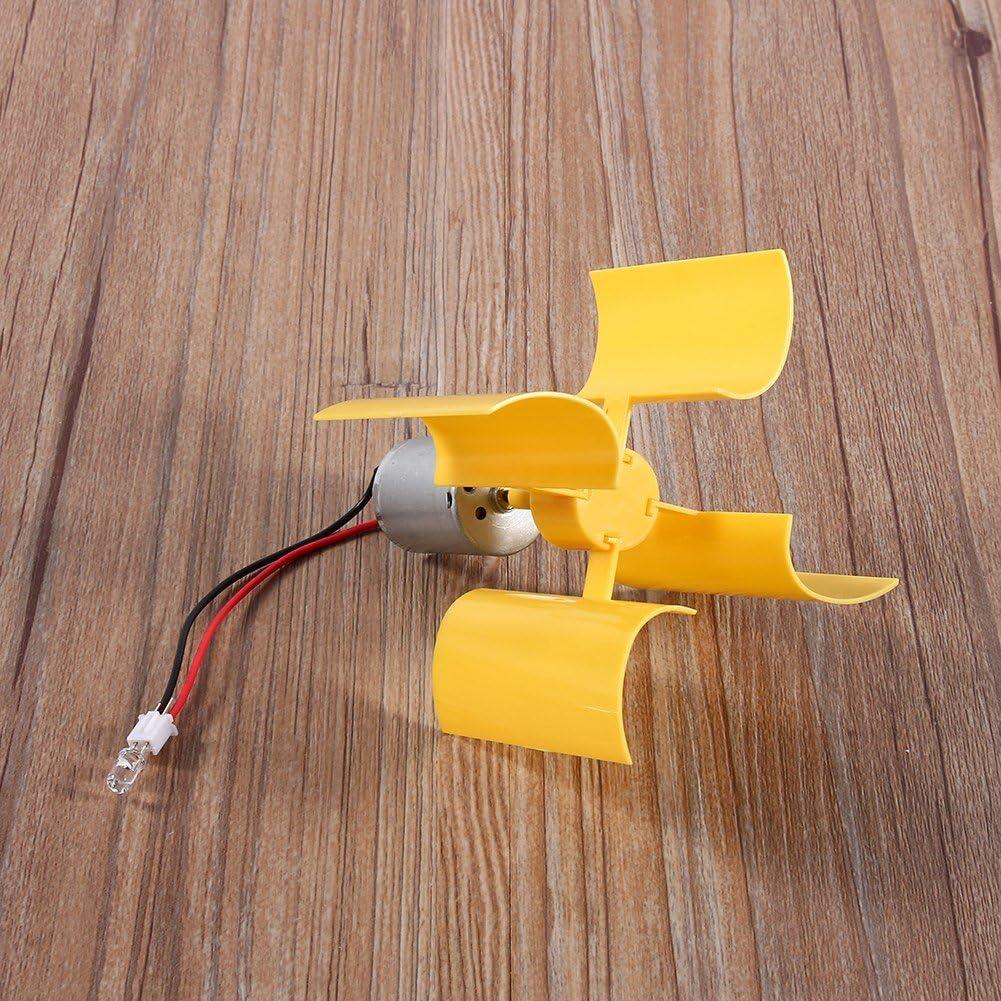 Windkraftanlage DIY Kit kleine Motor vertikale Windturbinen Blades Breeze Electricity Generator