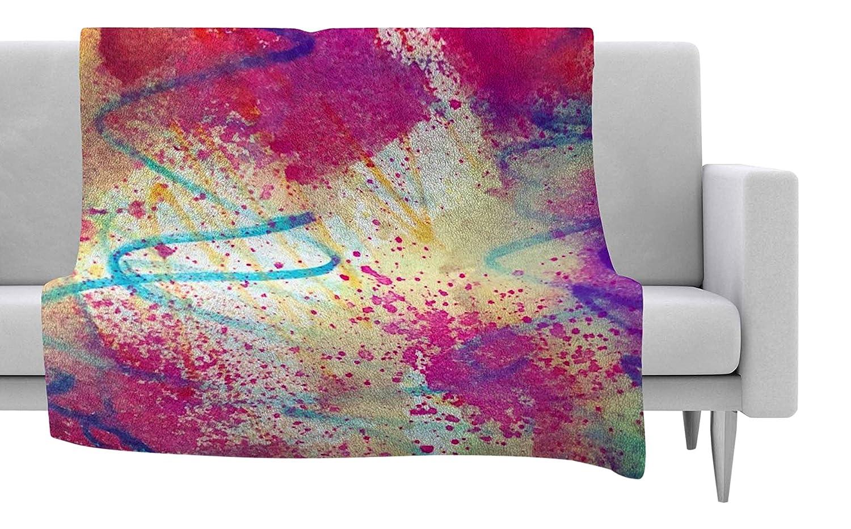 Kess InHouse Liz Perez Rainbow Purple Multicolor Fleece Throw Blanket 80 X 60 80 by 60-Inch