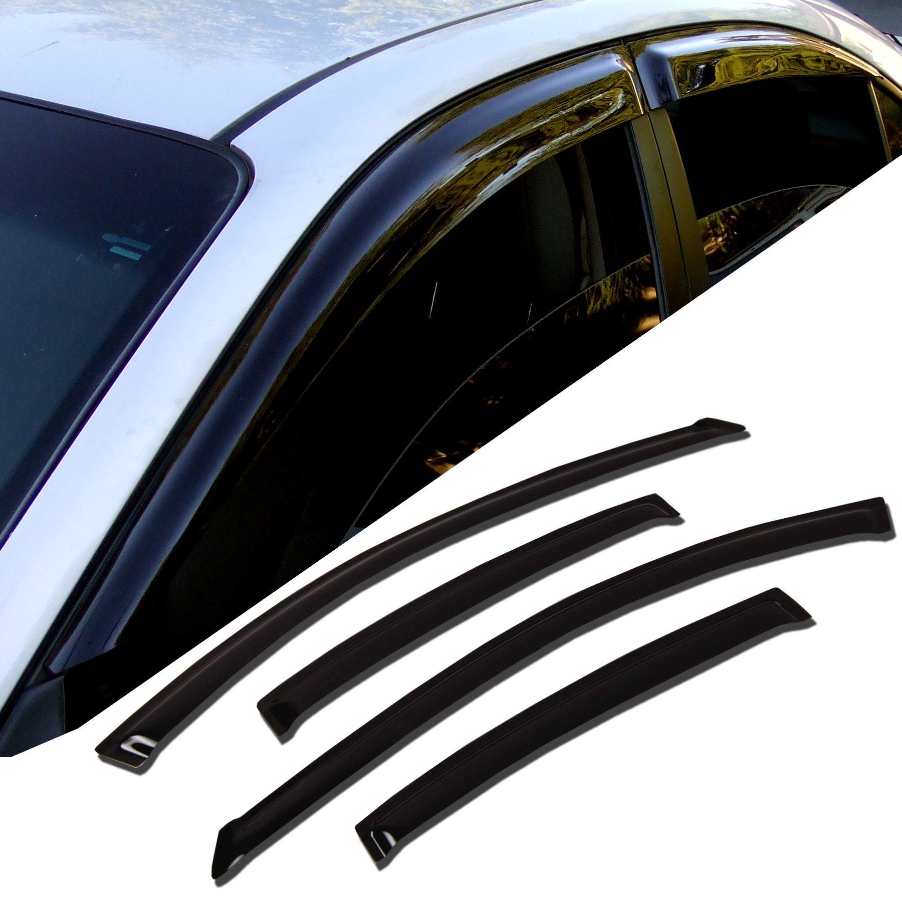Auto Ventshade 194758 In-Channel Ventvisor Side Window Deflector 4-Piece Set for 2016-2018 Kia Sorento