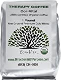 Cor-Vital Organic Enema Coffee - Green Beans Finely Ground with Detox Recipe - 1lb