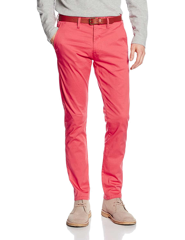 TALLA 30W / 32L. SELECTED HOMME SHHYARD Spiced Coral Slim ST Pants-Pantalones para Hombre