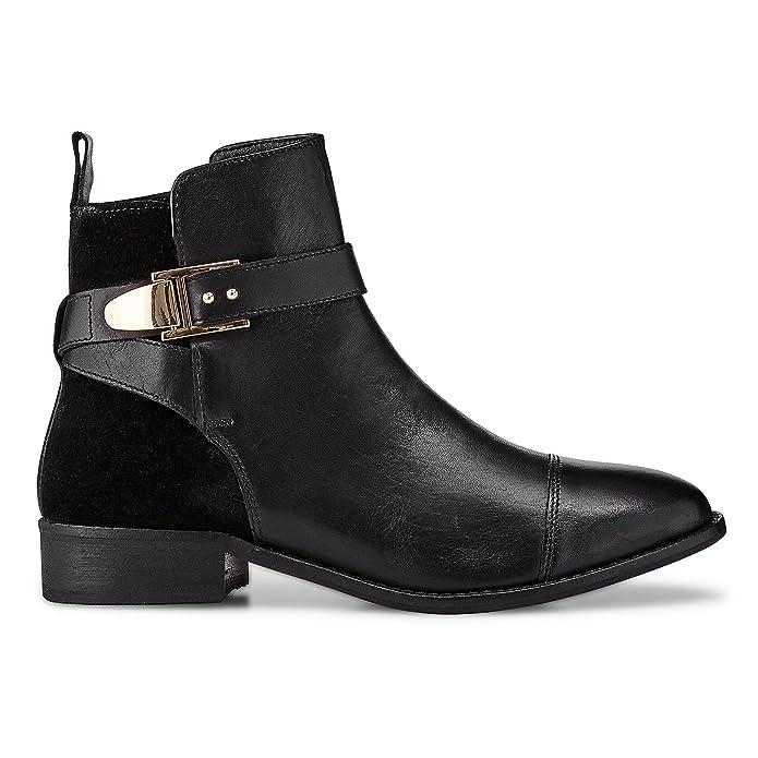 Cox Damen Chelsea Boots Trend Stiefelette Glattleder