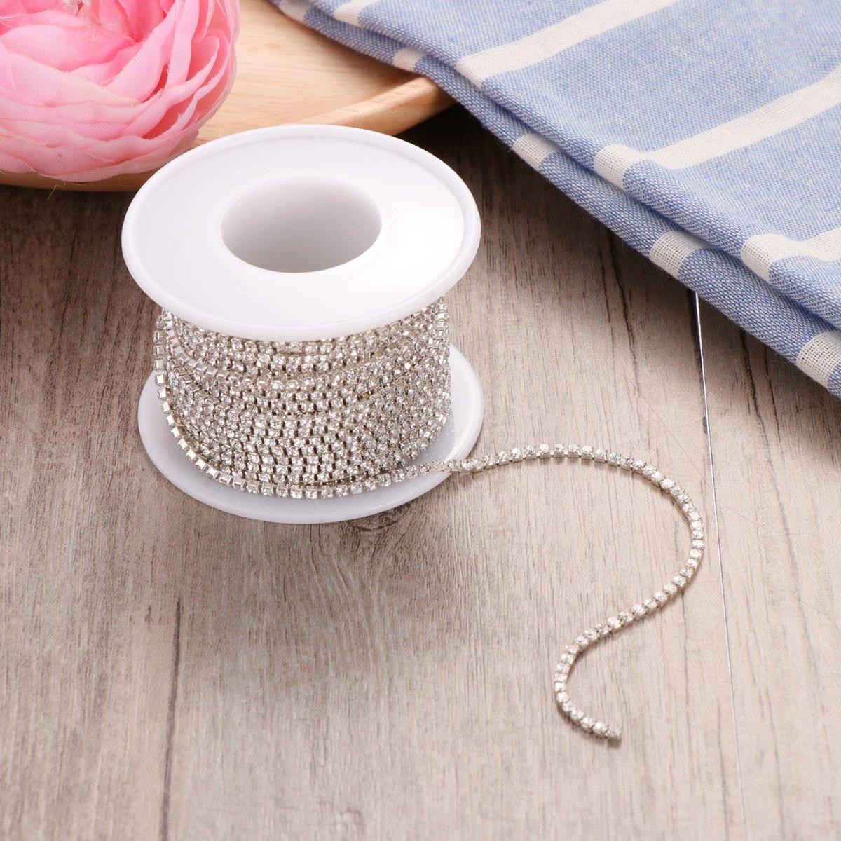2/mm ultnice galon en strass bracelet pour bijoux couture d/écoration de mariage artisanat DIY 10/m