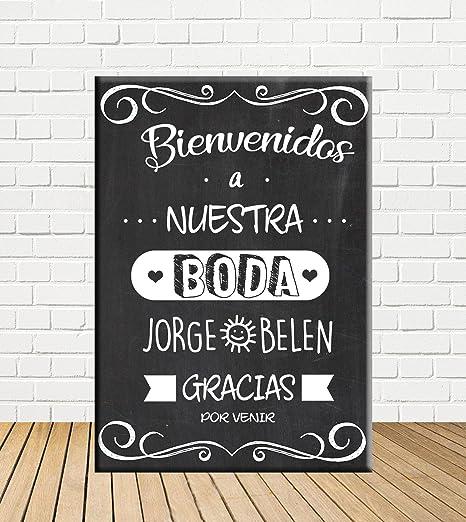 Tu Fiesta Mola Mazo Cartel Boda Pizarra Bienvenida de Boda ...