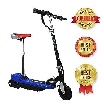 SABWAY® Patinete electrico para Niños - Azul Plegable con Asiento Scooter Mini con Silla y
