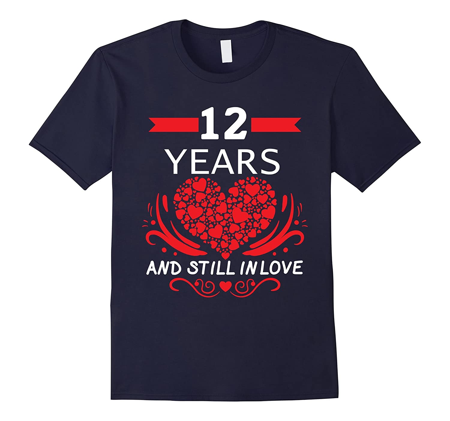 12th Wedding Anniversary Gifts 12 Year Shirt For Him And Her Rt