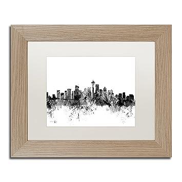 Amazon.com: Seattle Washington Skyline B&W by Michael Tompsett ...