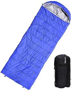 Saco de dormir tipo sobre ligero impermeable para excursiones con mochila Acampada Montañismo Aire libre con