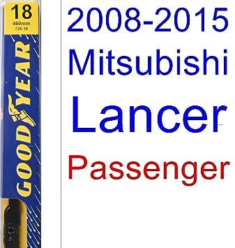 2008 - 2015 Mitsubishi Lancer hoja de limpiaparabrisas de repuesto Set/Kit (Goodyear limpiaparabrisas blades-premium) (2009,2010,2011,2012,2013,2014): ...