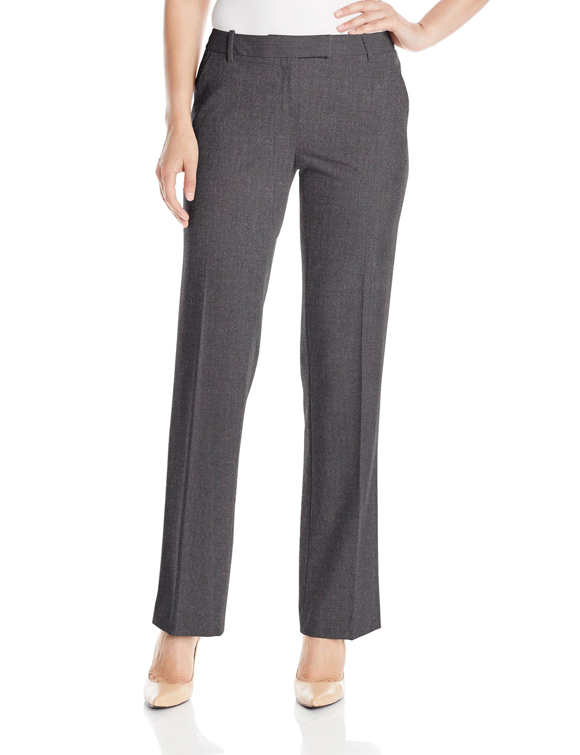 Calvin Klein Women's Madison Pant,Charcoal Melange,2 by Calvin Klein (Image #1)