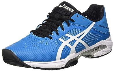 detailed look fd267 356c6 ASICS Gel-Solution Speed 3, Gymnastique Homme - Bleu - Blu (Blue Jewel