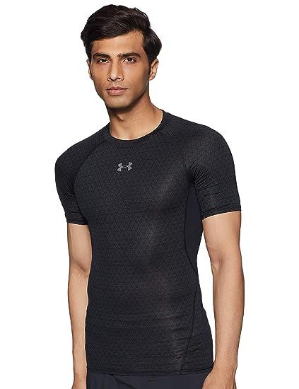 c7dce8111b918 Under Armour Men s HeatGear Armour Printed Short Sleeve Compression Shirt