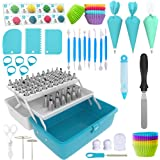 Cake Decorating Tools 246-Piece Piping Bags and Tips Set Cake Decorating Kit with 62 Piping Tips Cake Decorating Supplies wit