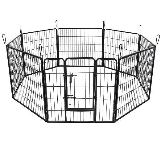 16 opinioni per Songmics Recinzione Recinto per Cani Conigli Animali di Ferro L 80 x 80 cm nero