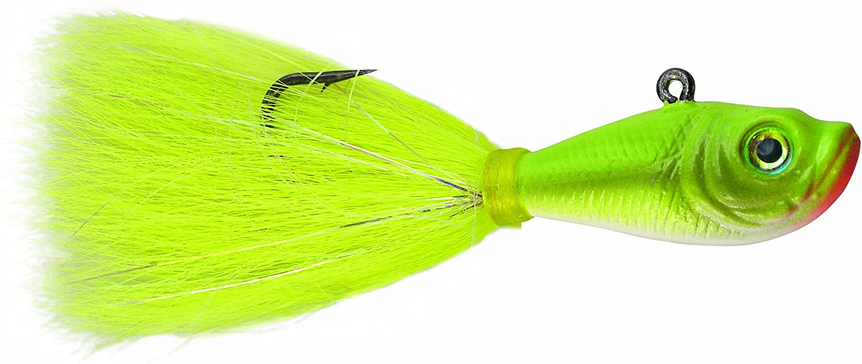 Spro SBTJCC-2 Prime Bucktail Jig, 2-Ounce, Crazy Chartreuse