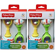 Fisher-Price Rattle n Rock Maracas, 2 Pack